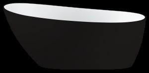 Issa Black-Bathtub-Freestanding-Acrylic-Baignoire-Bain-Autoportant